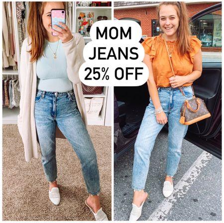 Abercrombie jeans Mom jeans  #abercrombie #momjeans #abercrombiejeans #denim #jeans  #LTKunder50 #LTKSale #LTKunder100