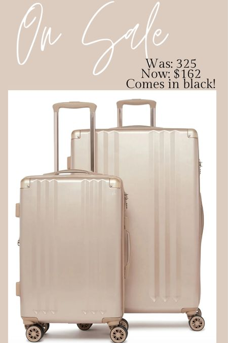 Super sale on Calpak luggage! These suitcases were $325 and now only $162!! This is a set of two and also comes in black! http://liketk.it/2T1pV #liketkit @liketoknow.it #LTKsalealert #LTKtravel #LTKworkwear
