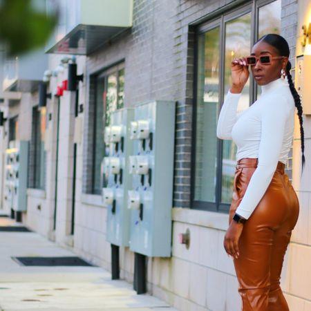 I'm loving leather pants right now   #LTKworkwear #LTKsalealert #LTKFall