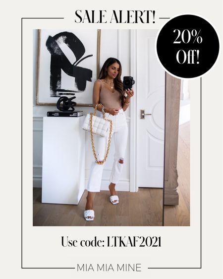 LTK Day Sale picks Abercombie sale - take 20% off with code LTKAF2021  Abercombie knit top wearing an XS Abercrombie white denim wearing a 24   #LTKDay #LTKunder100 #LTKsalealert