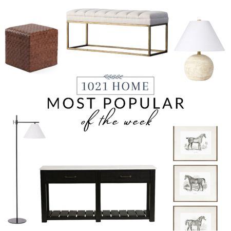Home decor, furniture, sideboard, console table, art, lamp, bench, ottoman  #LTKhome #LTKfamily #LTKsalealert