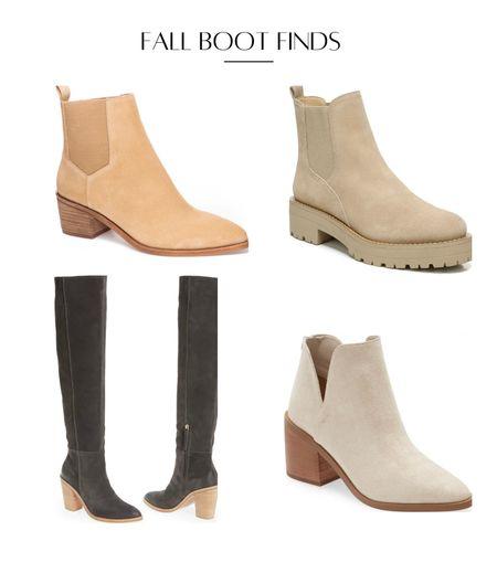 Fall booties knee high boots tan booties Chelsea boot Nordstrom finds   #LTKSeasonal #LTKshoecrush #LTKstyletip