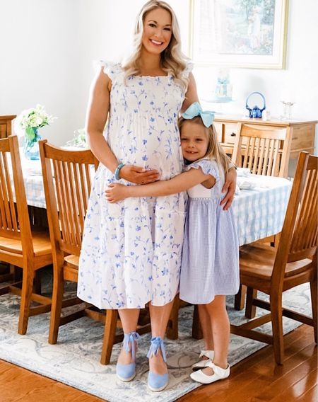 This Hill House Dress is back in stock and selling out quickly-the matching little girl one is in stock too! Run! Perfect for maternity and nursing friendly too! I wore it to my baby sprinkle but have worn it so much postpartum   #LTKbump #LTKfamily #LTKkids