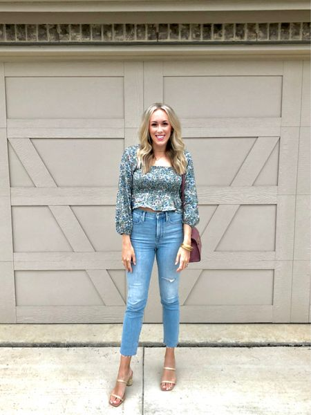 You'll never guess how much this top is 😍 Such a fun date night outfit! These jeans are a splurge but worth every penny! http://liketk.it/3eh58 #liketkit @liketoknow.it #LTKsalealert #LTKunder50 #datenight #highrisejeans