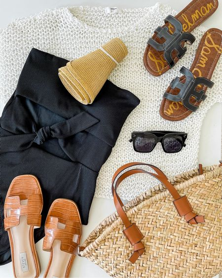A little beach vacation outfit inspiration with this black one piece — The Aerie swimsuit selection is good this year! This black one piece swimsuit even works if you have a longer torso (I'm 5'9 and ordered my normal size). More black swimsuits linked as well!   Swimsuit, swimsuits, one piece swimsuit, one piece swimsuits, strapless swimsuit, black one piece swimsuit, one piece swimsuit black, cut out swimsuit, beach vacation outfit, pool day outfit, pool party outfit  #swimsuit #swimsuits #onepiece #onepieceswimsuit #onepieceswimsuits #beachvacationoutfits #cutoutonepiece #cutoutswimsuit #aerieswimsuit #aerieswimsuits #blackswimsuits #pooldayoutfit #beachdayoutfits #poolpartyoutfit #swimsuitunder50
