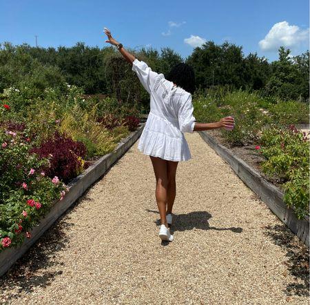 White love shack fancy dress + Adidas tennis shoes   #LTKunder100 #LTKstyletip #LTKSeasonal