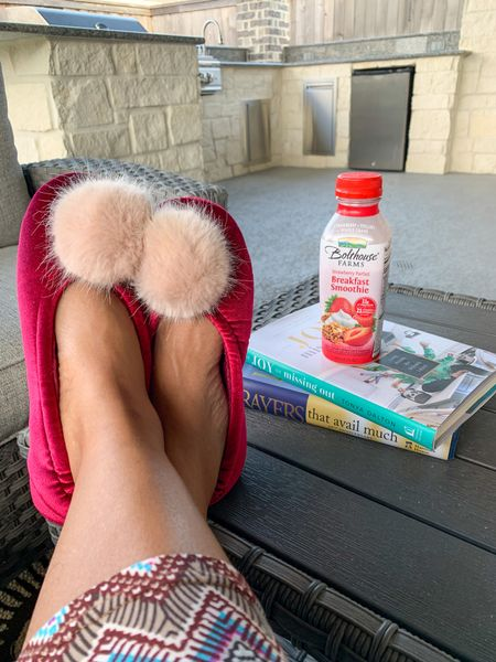 Both kiddos have been dropped off to school. Enjoyed some reading and quiet time before I hit the ground running. Love my Pom Pom slippers. #Books #Slippers #PomPomSlippers #QuietTime #Reading #Competition   #LTKkids #LTKshoecrush #LTKSeasonal