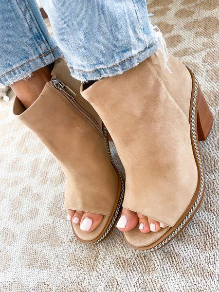 Super cute peep toe booties size 7  #LTKunder100 #LTKshoecrush