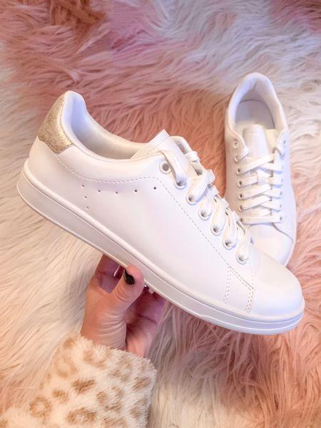 White sneakers under $15 from Walmart   #LTKSeasonal #LTKunder50 #LTKshoecrush