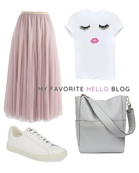 Tulle skirt with sneakers. Tulle skirt casual outfit with graphic tee and white sneakers http://liketk.it/3gcXZ #liketkit @liketoknow.it #graphictee #tulleskirt #whitrsneakers #amazonfinds  #LTKunder100 #LTKunder50 #LTKstyletip