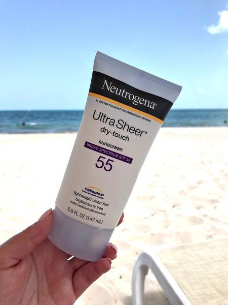 Neutrogena sunscreen SPF 55 FTW!   #LTKswim #LTKtravel #LTKfamily