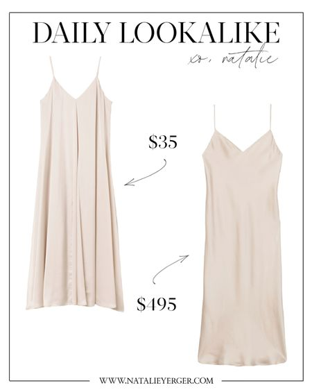 Slip dress 🤍 If you're looking for slip dresses for forever, this L'Agence spaghetti strap dress is gorgeous, but the H&M dress is a great save vs splurge dupe!  slip dress, slip dresses, white slip dress, satin dress, satin slip dress, silk slip dress, h&m finds, midi slip dress, satin slip dress midi, white satin slip dress, long slip dress, white silk slip dress  #slipdress #satinslipdress #silkslipdress #whiteslipdress #midislipdress #satinslipdressmidi #longslipdress #whitesatinslipdress #satindress  #LTKunder100 #LTKunder50 #LTKwedding