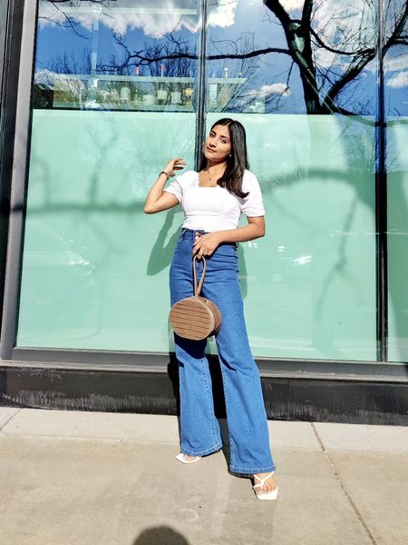 Nothing compares to a classic jeans and white top. This is going to be my summer uniform. I am wearing petite size 2 jeans and a small in top. #bluejeans #whitetop #easystyle   #LTKstyletip #LTKunder100 #LTKworkwear
