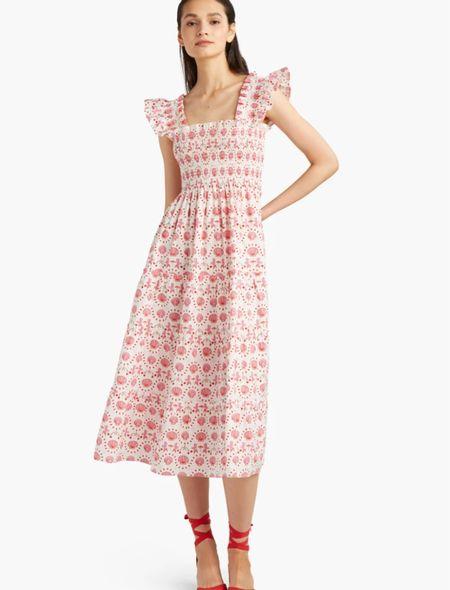 Nap dresses white summer dress hill house home preppy grandmillennial classic ruffle smocked dress wedding guest dresses  #LTKunder100 #LTKwedding #LTKSeasonal