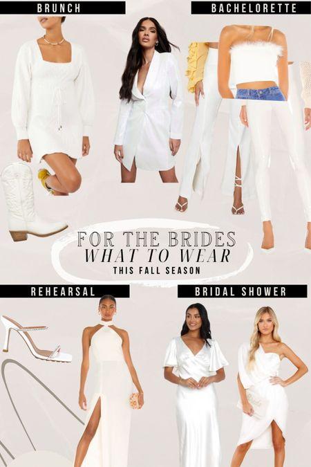 Fall brides 🤍 what i'd wear this season to diff occasions! bridal shower, bachelorette, rehearsal, etc.   #LTKshoecrush #LTKstyletip #LTKwedding