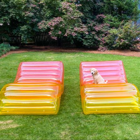 The rainbow chaise lounger floats we bought last year are on sale! We love them (and baby Rosie did too)!   http://liketk.it/3g6sk #liketkit @liketoknow.it