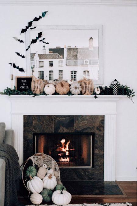 Fall mantel decor, fall mantel, Halloween decor   #LTKSeasonal #LTKHoliday #LTKhome