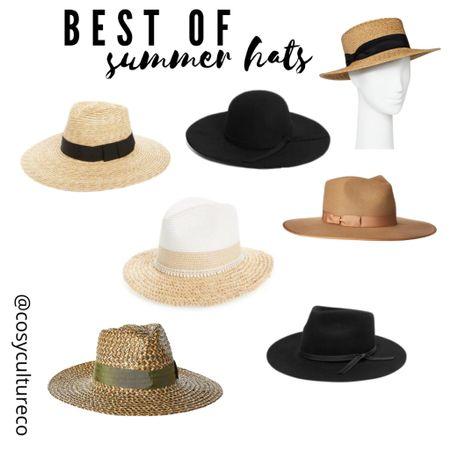 Best of summer hats! Fedoras, straw hats, floppy brims http://liketk.it/3hyIX #liketkit @liketoknow.it #LTKunder50 #LTKstyletip #LTKunder100