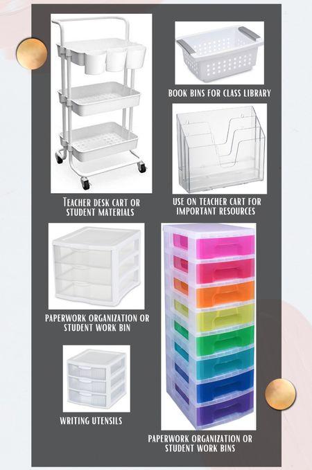 Sharing my favorite classroom organization containers ✨  #LTKworkwear #LTKunder100 #LTKunder50