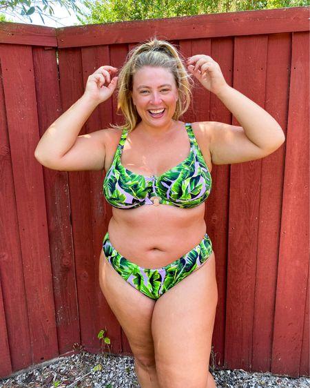 Bra sized swim // true to size bottoms   #LTKcurves #LTKswim