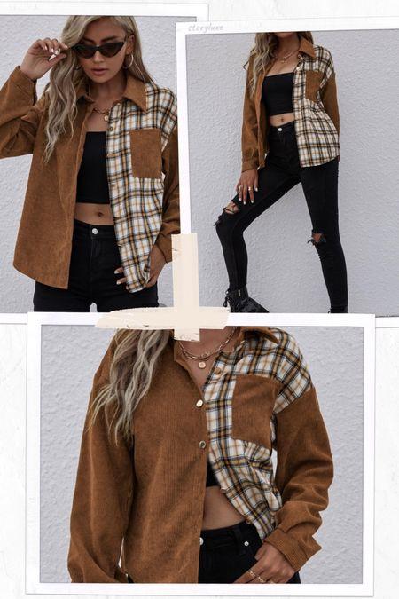 SHEIN shacket for fall!   #LTKstyletip #LTKunder50 #LTKSeasonal