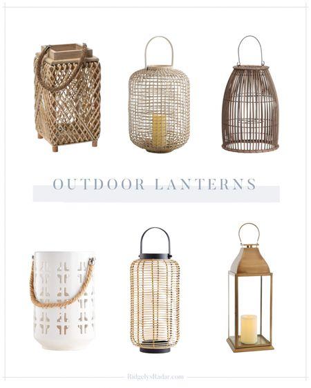 Outdoor lantern roundup for summer!   #LTKfamily #LTKSeasonal #LTKhome