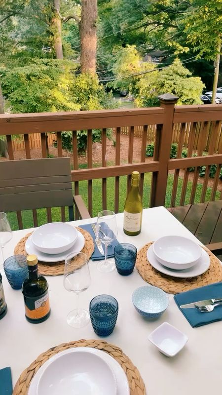All the essentials for a dinner outdoors! I love these items for my deck or a patio!  #LTKhome #LTKfamily #LTKSeasonal
