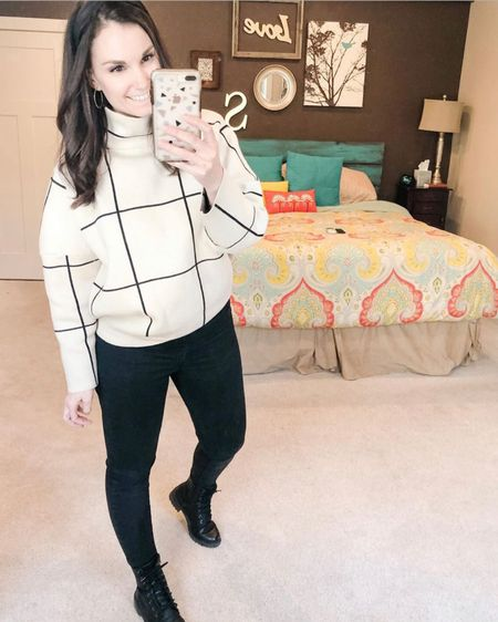 Repost to show you my combat boots that I wear ALL THE TIME in the fall and winter are included in the Target 30% off sale! Also the weather is so cool here it could still be considered #sweaterweather http://liketk.it/2NijV #liketkit @liketoknow.it #LTKsalealert #LTKshoecrush #LTKworkwear Shop my daily looks by following me on the LIKEtoKNOW.it shopping app