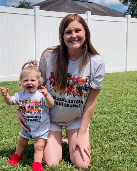 Matching SEC mascot shirts from one of our favorite boutiques! Not much makes me happier than seeing my favorite girl in Razorback gear. College football is back!   This boutique, RIFF RAFF is also have a Labor Day sale!   Adult t-shirt is unisex!    http://liketk.it/3n51a #liketkit @liketoknow.it #LTKsalealert #LTKkids #LTKstyletip