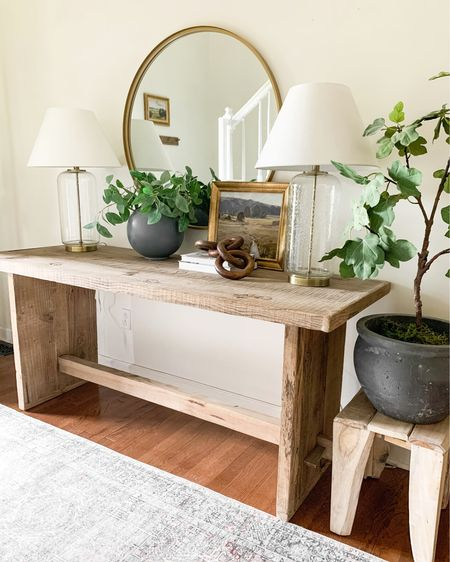 Summer entryway styling with Studio McGee Threshold items!