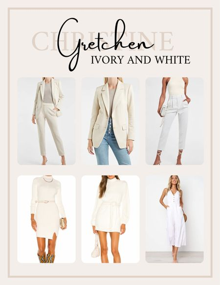 Shop Fall Trendy outfits in white and ivory right here!   #LTKsalealert #LTKfit #LTKstyletip