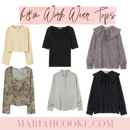 H&M work wear tops and blouses for the office   #LTKstyletip #LTKunder50 #LTKworkwear
