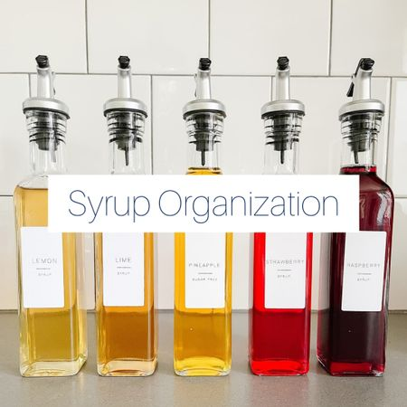 Shop this look and beautifully organize your syrups! Visit resetyournest.com for the minimalist labels used here. http://liketk.it/3kbcZ @liketoknow.it #liketkit #LTKunder100 #LTKunder50 #LTKhome #LTKfamily #LTKorganized @liketoknow.it.home @liketoknow.it.family