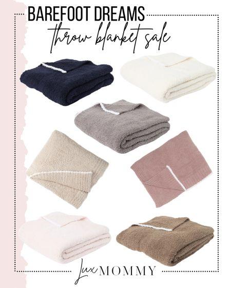 Barefoot dreams is having a blanket sale. They make the softest blankets ever!!   #LTKunder100 #LTKhome #LTKsalealert