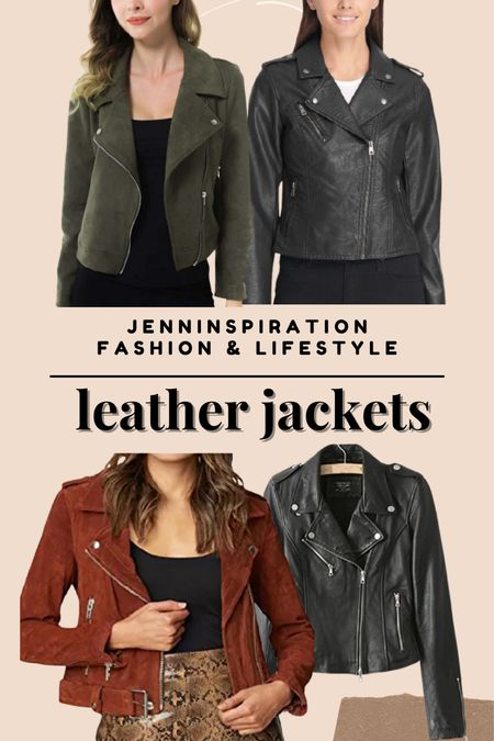 Leather jackets from Amazon under $50! Perfect for cold season and pair with dress or skirts, leggings, layering   #LTKstyletip #LTKHoliday #LTKsalealert