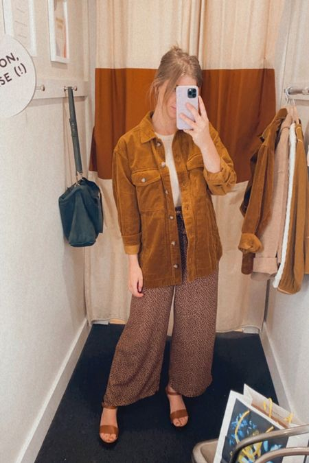 Madewell fall new arrivals: corduroy shacket, shirt jacket - available in regular + plus sizes. has an oversized fit, wearing a size XXS, would recommend sizing down one size from your typical size   #LTKunder100 #LTKstyletip #LTKSeasonal