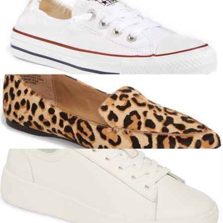 A couple of classics on major sale at Nordstrom! White Converse sneakers are a closet staple. I always buy mine on sale. Steve Madden leopard loafers are perfect for when we all go back to work or to wear casually with jeans right now. And the white leather sneakers are a great option for adding the white sneaker to your spring and summer wardrobe. http://liketk.it/2NXo2 #liketkit @liketoknow.it #LTKsalealert #LTKshoecrush Screenshot this pic to get shoppable product details with the LIKEtoKNOW.it shopping app