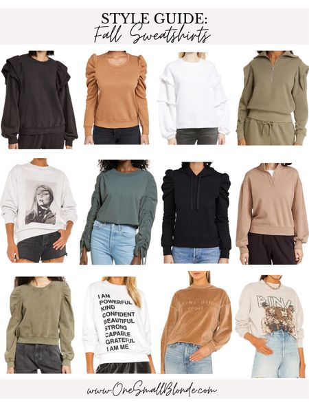 Favorite sweatshirts for fall 🖤  #LTKSeasonal #LTKunder100 #LTKstyletip
