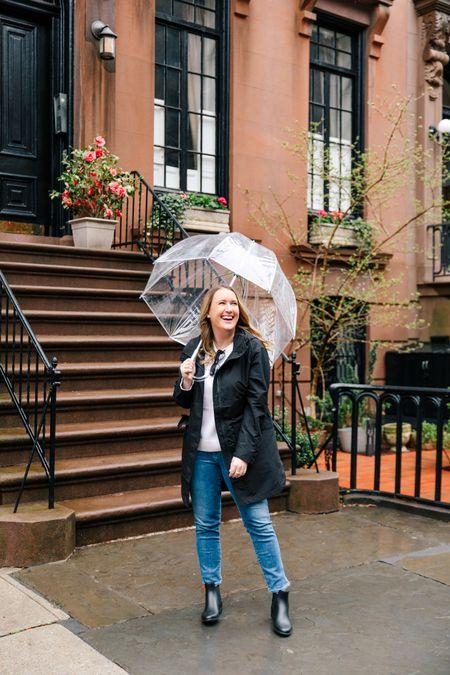 Rain day look with Everlane anorak (S)   #LTKunder100