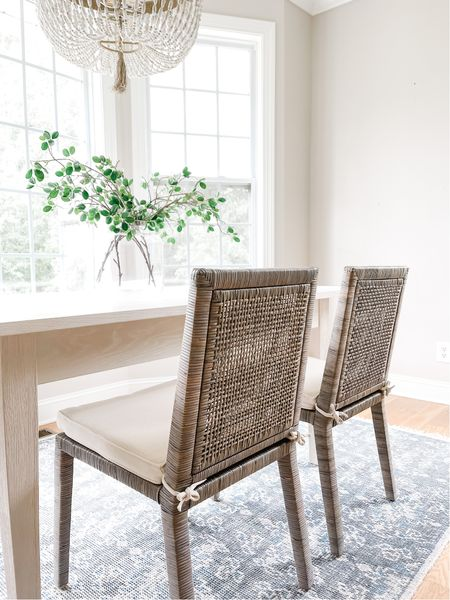 Back in stock!  Run!  Marshall's, rattan, dining chairs, furniture   #LTKhome #LTKstyletip