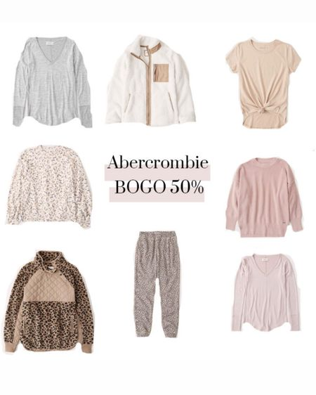 Abercrombie BOGO 50% off! Perfect time to stock up on loungewear and cozy items! http://liketk.it/2WuEW #liketkit @liketoknow.it