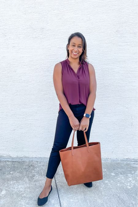 The perfect business casual outfit and bag. Love these new pants (come in petite length), these shoes are so comfortable, and this Madewell bag is amazing quality and fits so much.   #LTKshoecrush #LTKworkwear
