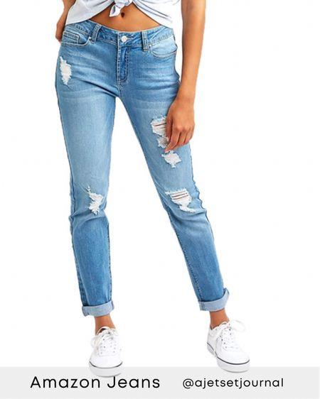 Amazon jeans  #amazonbooties #amazonboots #amazonfallfashion #amazonfinds #amazonfashion #amazonjeans    #LTKDay #LTKSale  #LTKunder100