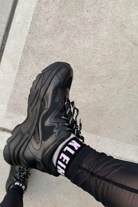 Chunky Sneakers  Mesh leggings  Calvin Klein socks   #LTKshoecrush #LTKtravel #LTKfit
