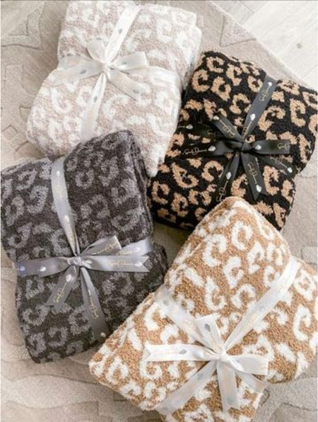 Blankets on sale!    They'd make great gifts for the holidays     Blankets , the styled collection , leopard print , #ltkgiftguide #ltkunder100 #ltksalealert  #LTKDay #LTKHoliday #LTKSale