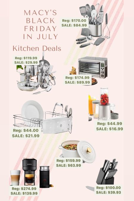 Macy's Black Friday in July event is going on this week! It's never too early to buy Christmas presents so hurry and check out these amazing deals! (These also make good wedding gifts too 😉) Here are some kitchen sales that are 🔥🔥🔥 I don't know about you, but I've got my eye on that nespresso 🤩 http://liketk.it/3jaX6 #liketkit @liketoknow.it #LTKhome #LTKsalealert #LTKunder100