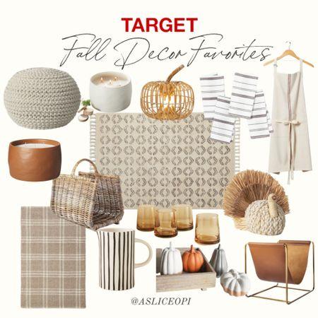 📷 Target Fall Decor Favorites! Fall candles, pumpkin decors, rugs, fall apron, fall painting, pitcher, dinner napkins, woven foot stool. http://liketk.it/3nl0c #liketkit @liketoknow.it