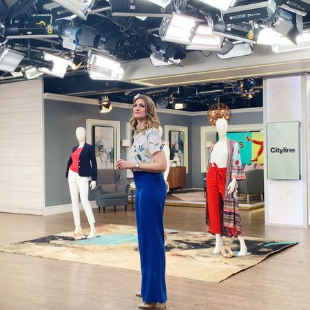 Getting ready to take my mark and show you some of my favourite pants and silhouettes for this spring. Tune in tomorrow on @cityline for all my picks and tips. http://liketk.it/2BQVB @liketoknow.it #liketkit