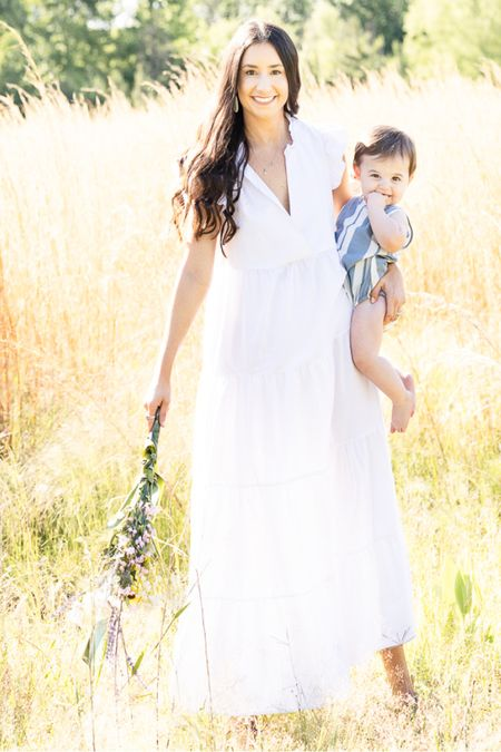 Shop your screenshot of this pic with the LIKEtoKNOW.it shopping app http://liketk.it/3hB0t @liketoknow.it #liketkit #LTKkids #LTKfamily #LTKbaby white dress