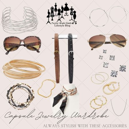 Check out what I consider to be a capsule accessory wardrobe. #capsulejewelrywardrobe  #LTKstyletip #LTKunder50 #LTKworkwear